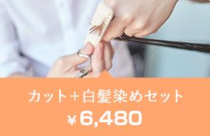 カット+白髪染めセット6,480円